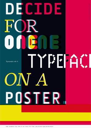 poster: font